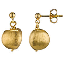 Buy Cobra & Bellamy 18ct Gold Vermeil Textured Drop Earrings Online at johnlewis.com