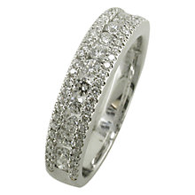 Buy EWA 18ct White Gold Diamond Three Row Eternity Ring, White Gold Online at johnlewis.com