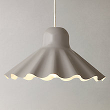Buy John Lewis Easy-to-fit Florrie Frill Metal Ceiling Shade, Grey Online at johnlewis.com