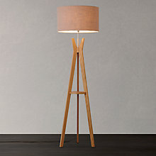 Buy Trafalgar Oak Tripod Floor Lamp Online at johnlewis.com