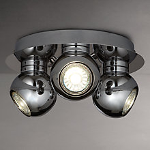 Buy John Lewis Maxim Eyeball GU10 LED Spotlight Plate, 3 Spot, Chrome Online at johnlewis.com