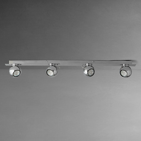 Buy John Lewis Maxim Eyeball GU10 LED Spotlight Bar, 4 Spot, Chrome Online at johnlewis.com