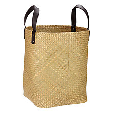 Buy John Lewis Tall Round Seagrass Basket Online at johnlewis.com