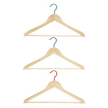 Buy House by John Lewis 3 Wooden Clothes Hangers, Set of 3 Online at johnlewis.com