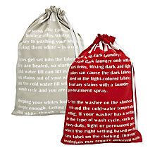 Buy John Lewis Whites / Darks Laundry Bags, Set of 2 Online at johnlewis.com