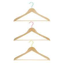 Buy John Lewis Copenhagen Wishbone Hangers, Set of 3 Online at johnlewis.com