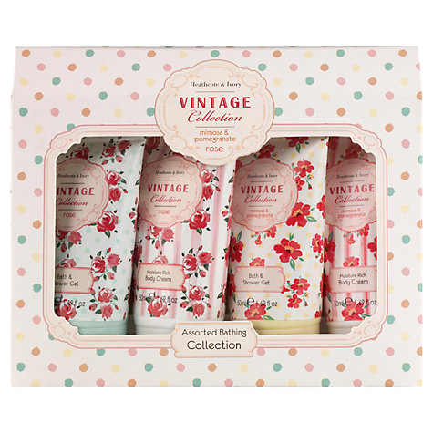 Buy Heathcote & Ivory Mimosa & Pomegranate Assorted Bathing Collection, 4 x 50ml Online at johnlewis.com
