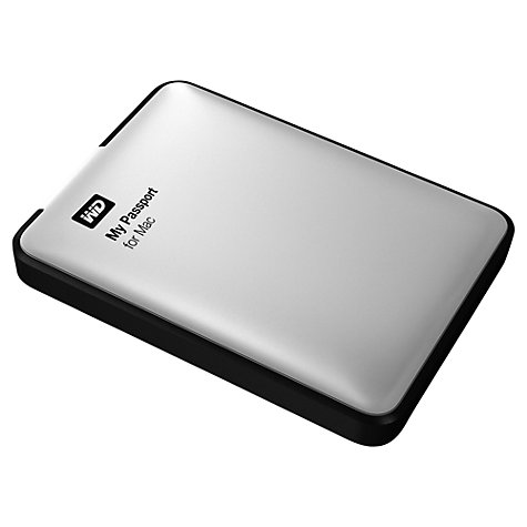 Buy WD My Passport for Mac Portable Hard Drive, USB 3.0, 2TB, Silver Online at johnlewis.com