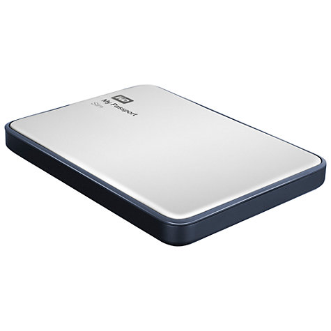 Buy WD My Passport Slim Portable Hard Drive, USB 3.0, 1TB, Silver Online at johnlewis.com