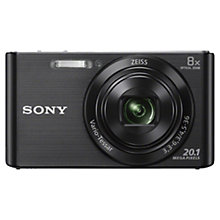 "Buy Sony DSC-W830 Camera, HD 720p, 20.1MP, 8x Optical Zoom, 2.7"" LCD Screen Online at johnlewis.com"