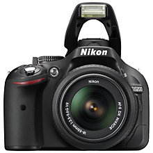 "Buy Nikon D5200 Digital SLR Camera with 18-55mm VR II Lens, HD 1080p, 24.1MP, 3"" Screen + Adobe Photoshop Elements 13 Online at johnlewis.com"