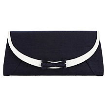 Buy Jacques Vert Clutch Bag with Banding and Triple Bow, White Online at johnlewis.com