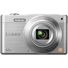 "Buy Panasonic Lumix DMC-SZ8 Digital Camera, HD 720p, 16MP, 12x Optical Zoom, Wi-Fi, 3"" LCD Screen, Silve with 16GB + 8GB Memory Card Online at johnlewis.com"