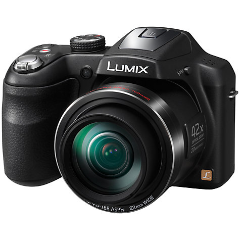 "Buy Panasonic Lumix DMC-LZ40 Bridge Camera, HD 720p, 20MP, 42x Optical Zoom, 3"" LCD Screen, Black Online at johnlewis.com"
