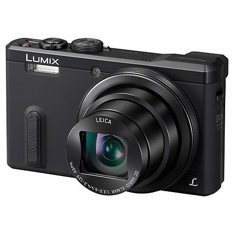 "Buy Panasonic Lumix DMC-TZ60 Digital Camera, HD 1080p, 18.1MP, 30x Optical Zoom, Wi-Fi, NFC, GPS & GLONASS, EVF, 3"" Screen Online at johnlewis.com"