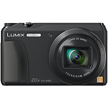 "Buy Panasonic Lumix DMC-TZ55 Digital Camera, HD 1080p, 16MP, 20x Optical Zoom, Wi-Fi, 3"" Tilting Screen with Memory Card Online at johnlewis.com"