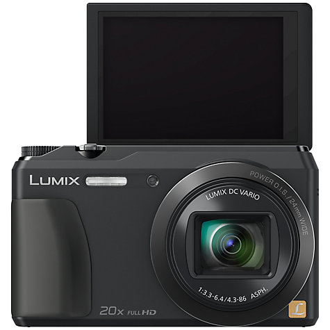 "Buy Panasonic Lumix DMC-TZ55 Digital Camera, HD 1080p, 16MP, 20x Optical Zoom, Wi-Fi, 3"" Tilting Screen Online at johnlewis.com"