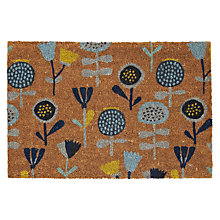 Buy John Lewis Chloe Doormat, Blue, L75 x W45cm Online at johnlewis.com