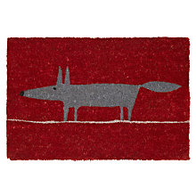 Buy Scion Mr Fox Doormat, Red / Grey, L75 x W45cm Online at johnlewis.com