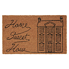 Buy John Lewis Home Sweet Home Doormat, L75 x W45cm Online at johnlewis.com