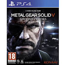 Buy Metal Gear Solid V: Ground Zeroes, PS4 Online at johnlewis.com