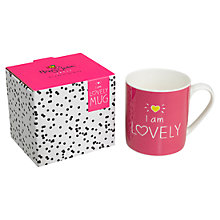 Buy Wild & Wolf Happy Jackson I Am Lovely Mug Online at johnlewis.com