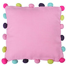 Buy bluebellgray Pom Pom Cushion Online at johnlewis.com