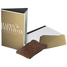 Buy Hotel Chocolat Happy Birthday Milk Chocolate Card, 50g Online at johnlewis.com