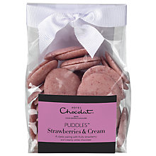 Buy Hotel Chocolat Strawberries and Cream Chocolate Puddles, 110g Online at johnlewis.com
