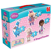 Buy Disney Doc McStuffins Shaped Jigsaw Puzzles, Pack of 4 Online at johnlewis.com