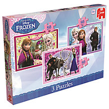 Buy Disney Frozen Puzzles, Pack of 3 Online at johnlewis.com