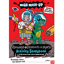 Buy Mega Mash Up Romans V Dinosaurs on Mars Activity Book Online at johnlewis.com