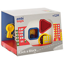 Buy Ambi Toys Lock A Block Online at johnlewis.com