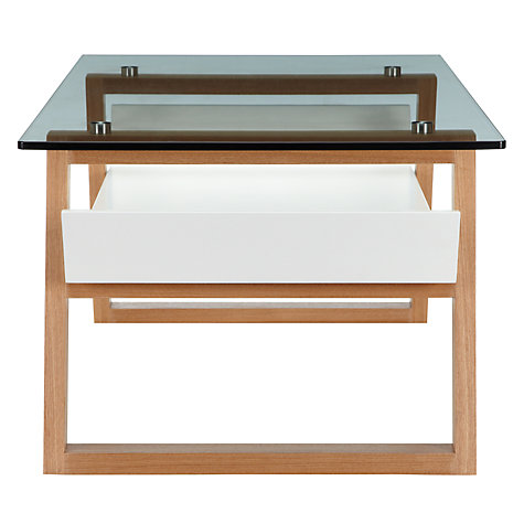 Buy house by john lewis airframe glass coffee table john for Coffee tables john lewis