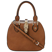 Buy Dune Dinidintage Buckle Bowling Bag, Tan Online at johnlewis.com