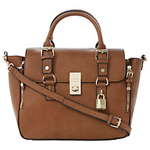 Buy Dune Demi Buckle Detailed Top Handle Bag, Tan Online at johnlewis.com