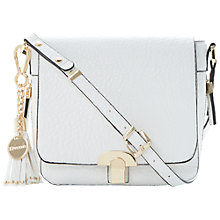 Buy Dune Dushroom Tassle Trim Saddle Bag, Mushroom Online at johnlewis.com