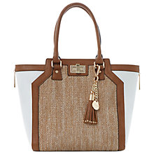 Buy Dune Drifter Winged Raffia Shopper Bag, Tan Online at johnlewis.com