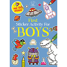 Buy First Sticker Activity Book for Boys Online at johnlewis.com