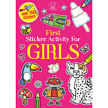 Buy First Sticker Activity Book for Girls Online at johnlewis.com