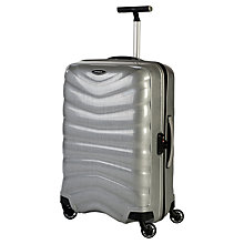 Buy Samsonite Firelite 4-Wheel Medium Spinner Suitcase, Silver Online at johnlewis.com