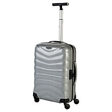 Buy Samsonite Firelite 4-Wheel 55cm Cabin Spinner Suitcase, Silver Online at johnlewis.com