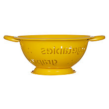Buy John Lewis Words Colander, Medium Online at johnlewis.com
