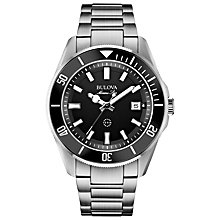 Buy Bulova 98B203 Men's Marine Star Stainless Steel Bracelet Watch, Black/Grey Online at johnlewis.com