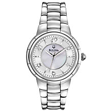 Buy Bulova 96L169 Women's Rosedale Mother of Pearl Watch, Silver Online at johnlewis.com