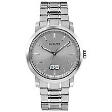 Buy Bulova 96B200 Men's Dress Stainless Steel Bracelet Strap Watch, Silver Online at johnlewis.com