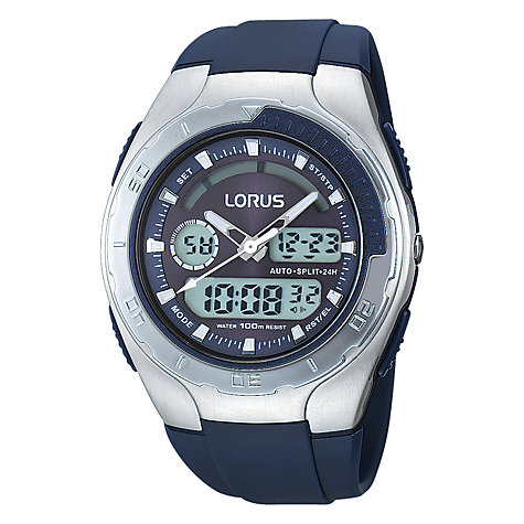 Buy Lorus R2391GX9 Men's Chronograph Dual Display Watch, Blue Online at johnlewis.com