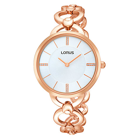 Buy Lorus RRW18EX9 Women's Stainless Steel Bracelet Watch, Rose Gold Online at johnlewis.com
