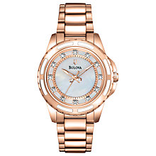 Buy Bulova Women's Mother of Pearl Diamond Watch Online at johnlewis.com