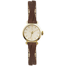 Buy Radley Ry2252 Women's Gold Twisted Vintage Tan Leather Strap Watch Online at johnlewis.com